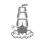 dream boat woodcut logo thumbnail