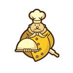 gold chef character logo thumbnail