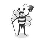 sewing bee character logo thumbnail