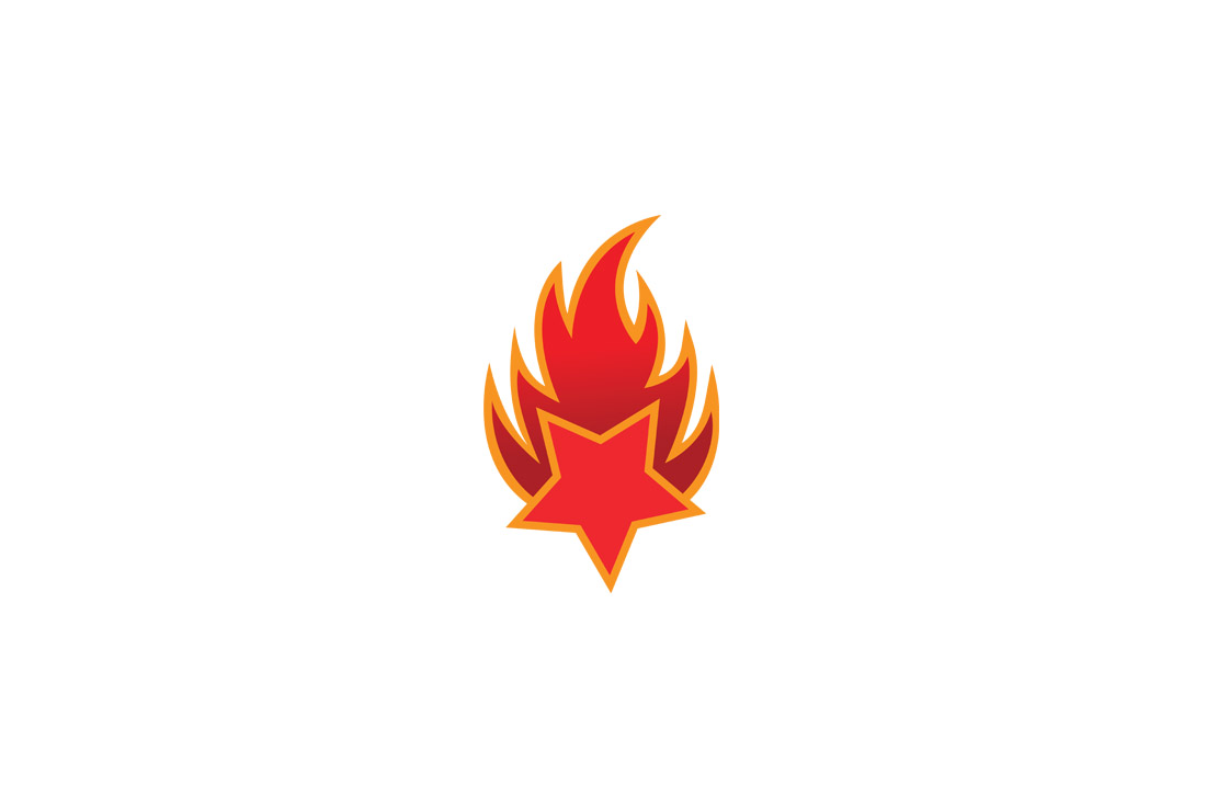burning star logo