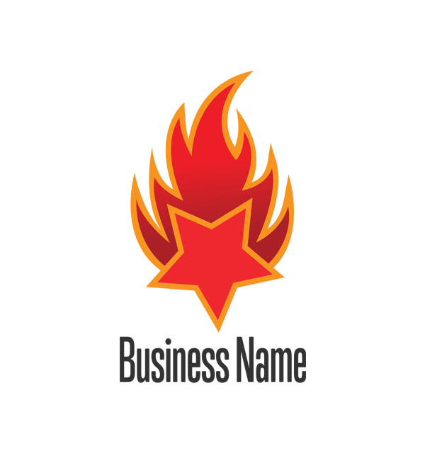flaming star icon logo