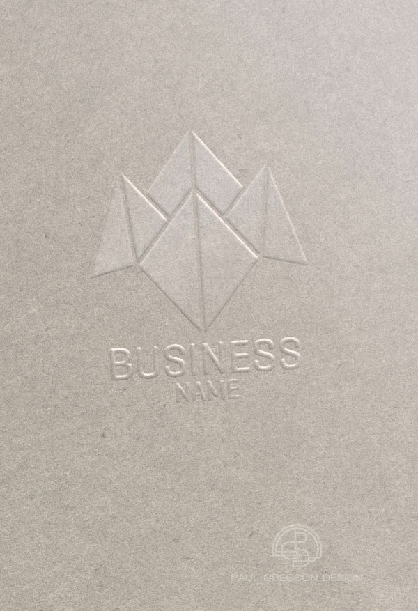 business choice logo embossed