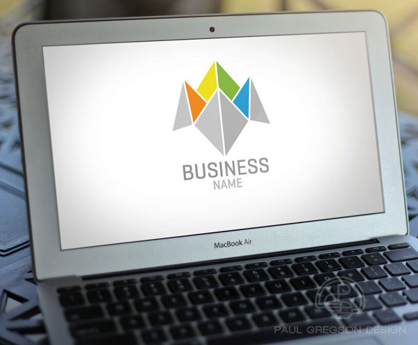 business choice logo on computer screen