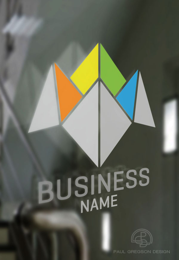 business choice logo on glass door
