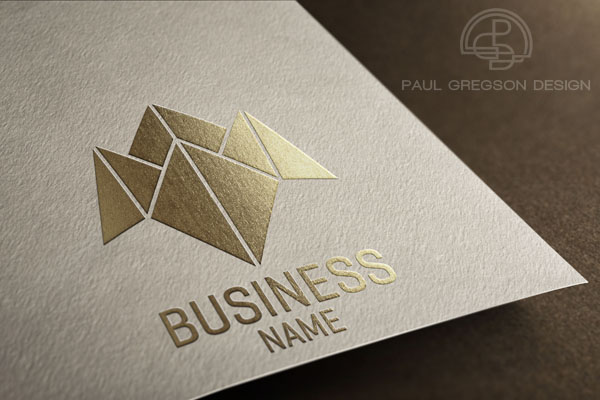 business choice logo gold embossed