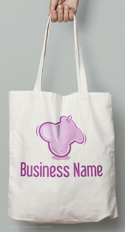 bone logo on canvas bag