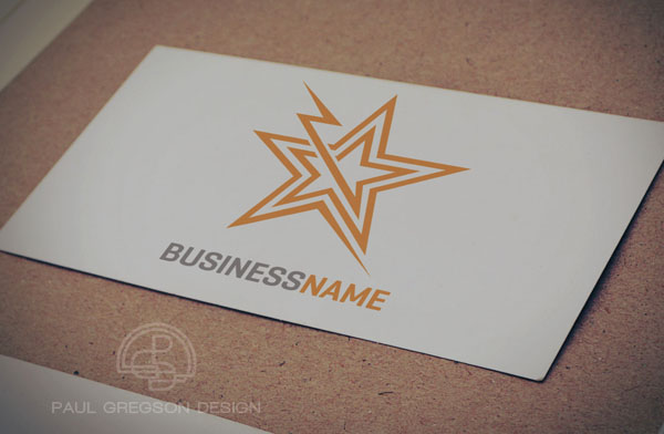 electric star symbol on card