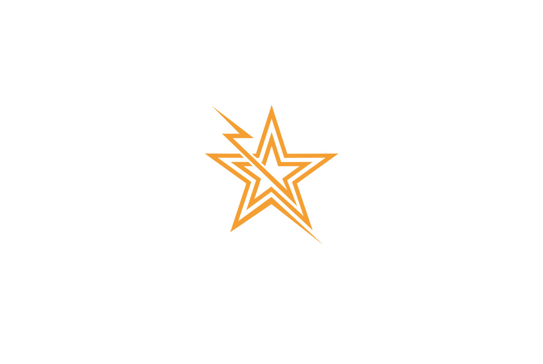 electric star icon logo featured