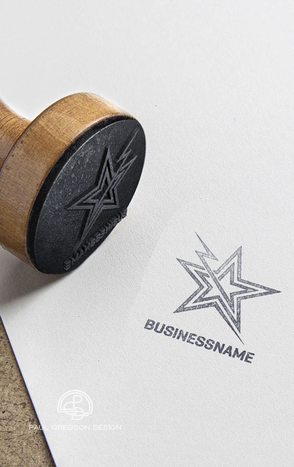 electric star logo rubber stamp