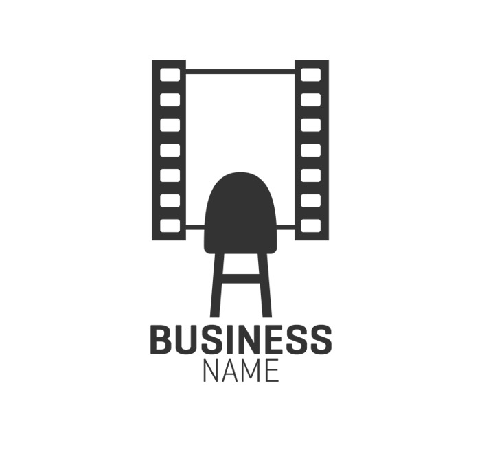 film strip chair symbol logo header