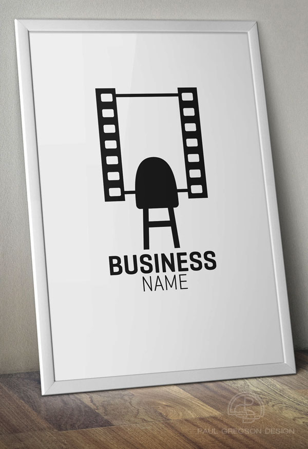 film strip mirror symbol on poster