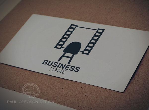 film strip mirror symbol on card