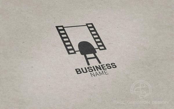 film strip mirror logo pressed on card