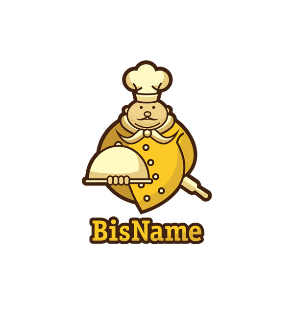 gold chef logo header