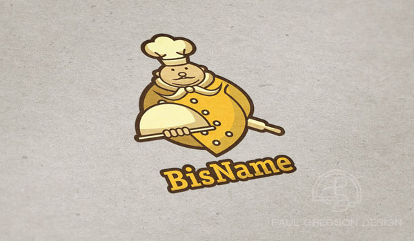 gold chef symbol on pressed card