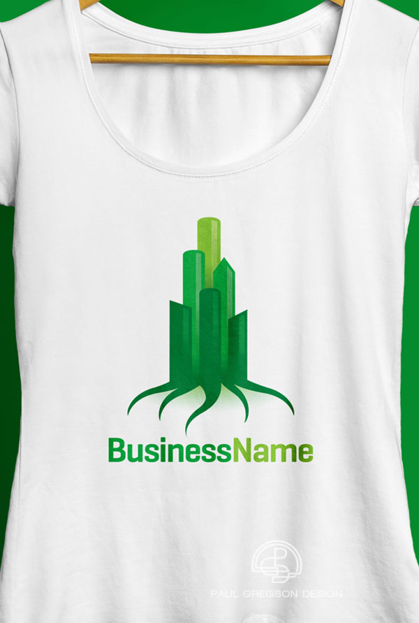 green city logo on ladies tee shirt