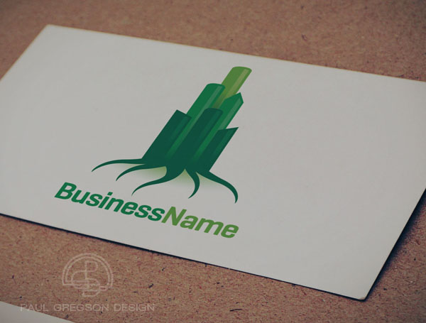 green city icon on card