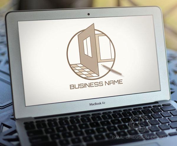 home design logo on computer screen
