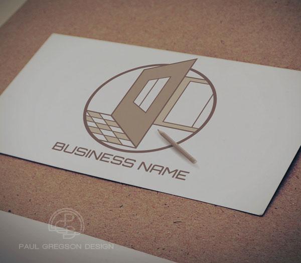 home design logo on card