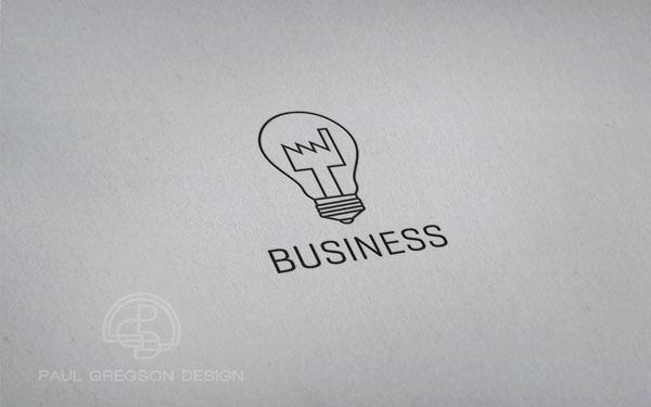 factory bulb logo on card