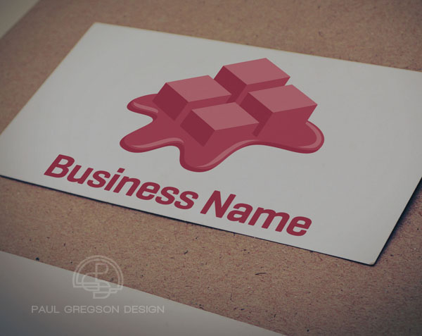 pixel icon logo on card