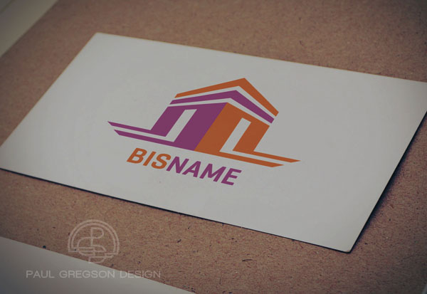 open house logo on card