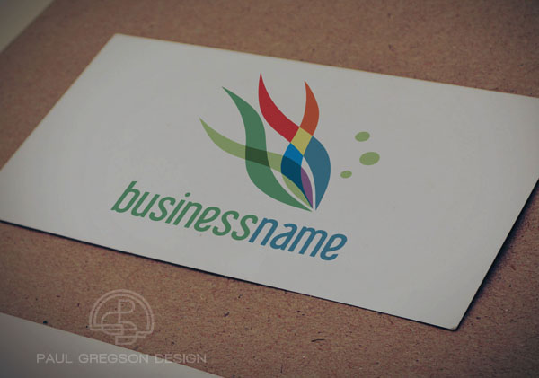 rainbow fish symbol on card stock