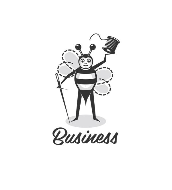 sewing bee character logo header