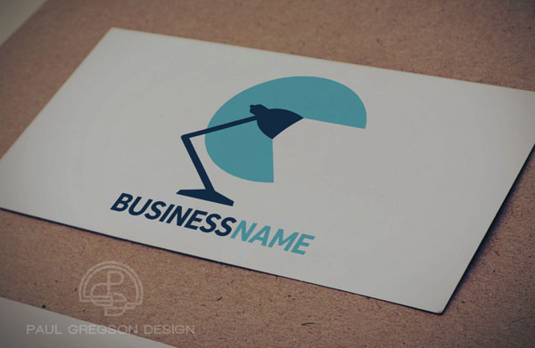 desk lamp icon on card