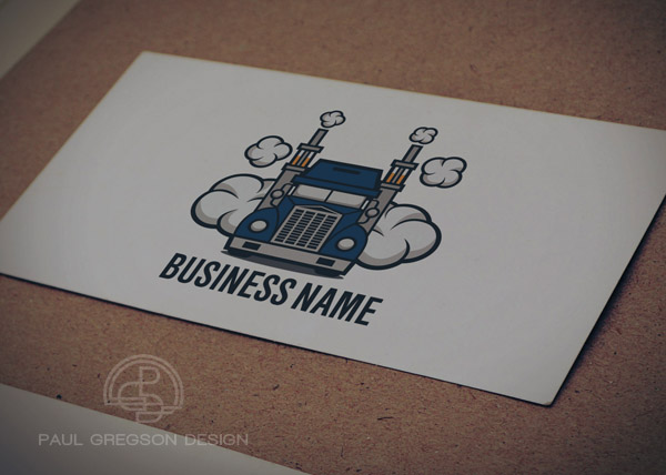 truck vaping logo on card